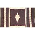 Chimayo weaving two pieces woven together 20th c wool 38 x 46