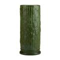 Hampshire rare bamboo and ivy umbrella stand in matte green unmarked 17 12 x 7 dia