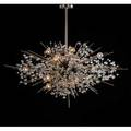 J  l lobmeyr large radiant chandelier austria 1960s chromed and enameled steel crystal unmarked to ceiling cap 39 x 45 dia