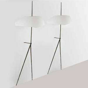 Felix agostini 1912  1974 pair of fine and large wall sconces france 1960s bronze linen shades double sockets impressed signatures 75 12 x 29 provenance sothebys new york 61312 lo