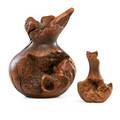 Melvin lindquist 1911  2000 two turned manzanita burl vases 197879 larger marked l 479 smaller marked l 578 9 5