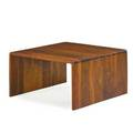 Arthur espenet carpenter 1920  2006 walnut low table bolinas ca 1968 signed and dated 16 x 30 x 30