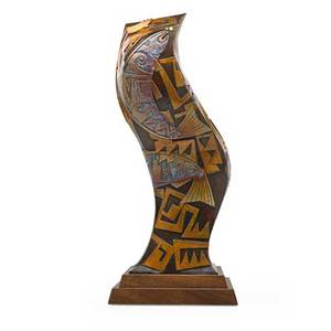 Tammy garcia b 1969 sculpture santa fe nm patinated bronze walnut signed 1130 artists chopmark 28 12 x 12 12 x 10 12 provenance original owner purchased from the artist