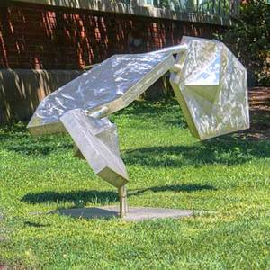 David c savage 1923  2004 large stainless steel outdoor sculpture princeton nj 1969 signed and dated overall 47 x 110 x 52