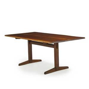 George nakashima 1905  1990 nakashima studios trestle dining table new hope pa 1964 walnut rosewood unmarked 29 x 72 x 37 12 provenance available copy of original order card and lett