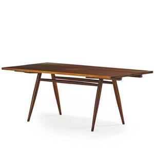 George nakashima 1905  1990 nakashima studios turned leg dining table new hope pa 1957 walnut rosewood unmarked 29 x 72 x 36 12 two leaves 17 ea provenance available copy of orig
