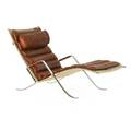 Preben fabricius 1931  1984 jorgen kastholm 1931  2007 alfred kill grasshopper lounge chair denmark 1960s chromed steel leather canvas unmarked 32 12 x 28 14 x 57 provenance wri