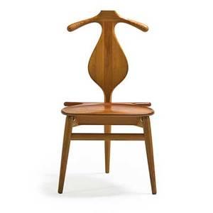 Hans wegner 1914  2007 johannes hansen valet chair denmark 1960s teak pine brass branded 37 14 x 20 x 21 provenance original owner