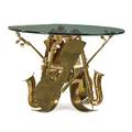 Arman 1928  2005 sculptural dining table with cello and saxophone france 1987 bronze glass signed and numbered 31 x 44 provenance original owners purchased from galerie ferrero nice f