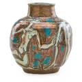 Edouard cazaux 1889  1974 glazed earthenware vase france 1940s signed 11 12 x 10