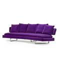 Antonio citterio b 1950 b  b italia arne sofa italy 2000s chromed steel velvet manufacturers labels 27 x 92 x 34 depth of curve 45