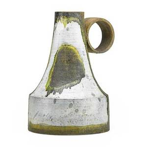 Marcello fantoni b 1915 large glazed ceramic pitcher italy 1950s signed 14 x 10 12