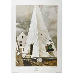 Andrew wyeth american 19172009 fog bell lithograph in colors signed and numbered 116 32 34 x 22 78 sheet printer triton press inc new york publisher penobscot medical center main