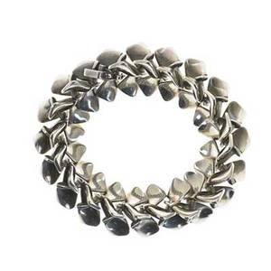 Nanna ditzel 1923  2005 georg jensen sterling silver linked bracelet denmark after 1945 stamped georg jensen nj sterling denmark 108 8 12 long
