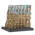Raymon elozua b 1947 motel sculpture new york 1980 stoneware oil wood signed on base 16 x 15 34 sq provenance accompanied by the catalog constructing elozua a restrospective 1973
