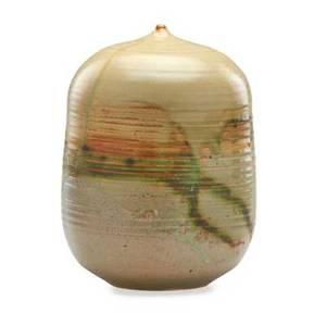 Toshiko takaezu 1922  2011 large glazed stoneware moonpot clinton nj signed 10 x 7