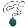 Lalique pendant guepes france 1920 colored glass silk etched france m p 578 no 1650 pendant 2 14 x 1 34