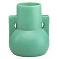 Teco large buttressed vase matte green glaze terra cotta il ca 1905 stamped teco 8 14 x 6 12