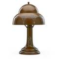 Heintz sterling on bronze table lamp with classical group and gothic overlay 1910s unmarked 14 14 x 9