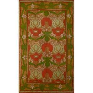Charles fa voysey 1857  1941 donegal fine donnemara wool carpet ireland ca 1905 unmarked 13 10 x 9 8