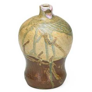 Jean carries 1855  1894 rare stoneware vase with dripglaze france 1870s80s signed jean carries30 6 x 4 note there is a similar vase at the musee dorsay paris