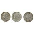 Us 10c 600 19431964 6000 face silver