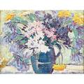 Maude drein bryant american 18801946 oil on canvas board of flowers in a vase framed signed artists studio stamp to verso 8 34 x 12