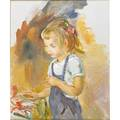 Alice kent stoddard american 18851976 oil on canvas portrait of a young girl framed signed 24 x 20