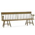 American deacons bench frame with original paint and stenciled decoration mid 19th c 33 14 x 78 34 x 17