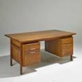 Jens risom executive desk usa 1960s walnut chromed steel unmarked desk 30 x 66 x 36