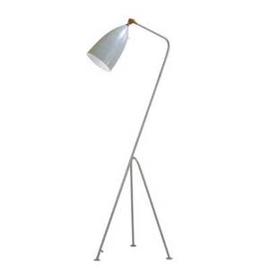After greta magnusson grossman contemporary adjustable floor lamp usa 2000s enameled metal brass single socket unmarked 48 12 x 19 x 15 12