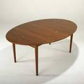 Finn juhl niels vodder judas dining table denmark 1950s teak and silver unmarked 27 12 x 71 x 47 12