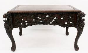 Chinese Carved Teak Table