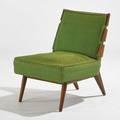 Th robsjohn gibbings widdicomb slatback lounge chair grand rapids mi walnut upholstery upholstery label 32 x 24 x 30