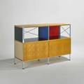 Charles and ray eames storage unit esu usa 1990s birch chromed steel and enameled wood eames office tag 32 12 x 47 x 16