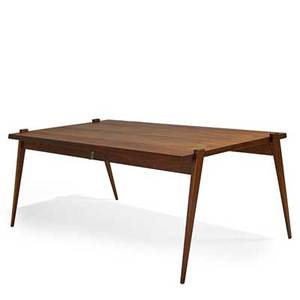 Phillip enfield walnut dropleaf dining table new york 1950s unmarked open 29 12 x 40 12 x 73 34 closed 24 wide