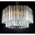Camer tiered chandelier italy 1960s hexagonal form nickelplated brass and crystal unmarked 17 x 26 12