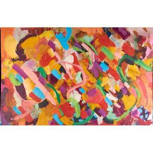 Large abstract painting oil on canvas 39 x 50 12