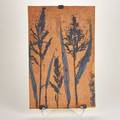 Otto and viveka heino stoneware tile usa 1993 incised and painted with plant life incised viveka  otto 93 21 x 13 12 x 12