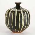 Antonio prieto bottleshaped vase california 1950s slipdecorated stoneware signed 5 12 x 4 34