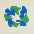 Paul allen reed american b1919 four screenprints blue and green 196371 signed dated titled and numbered proof 22 marmara ii 1968 signed dated titled and numbered 150 untitled s