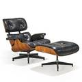Charles eames 1907  1978 ray eames 1912  1988 herman miller lounge chair and ottoman no 670 and 671 zeeland mi 1977 rosewood leather enameled aluminum enameled steel rubber manufa