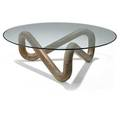Harvey probber 1922  2003 harvey probber inc coffee table usa 1950s carved oak glass unmarked 13 12 x 42 dia