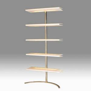 Phillip enfield 1914  2004 illuminated etagere new york 1970s acrylic stainless steel unmarked 76 x 36 x 16 12 provenance family of the designer