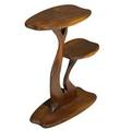 Robert whitley b 1925 tiered sculpted walnut side table solebury pa 1980s signed an original furniture sculpture by robert c whitley solebury pa 20 12 x 16 x 8 provenance original ow