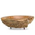 John dickinson turned bowl oregon 1996 maple burl rosewood signed and dated 5 x 16 x 15