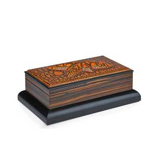 Wendell castle b 1932 humidor usa 1996 cracklelacquered wood rosewood cedar signed and dated 7 x 19 14 x 11 34