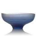 Tobia scarpa b 1935 venini battuto glass bowl murano italy 1960s faint remnants of acidetched mark 5 x 11 dia