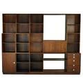 Finn juhl 1912  1989 cresco storage unit denmark 1960s rosewood laminate brushed steel unmarked 81 12 x 105 12 x 18 12