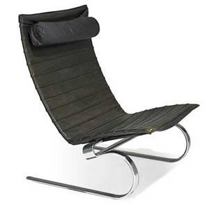 Poul kjaerholm 1929  1980 e kold christensen lounge chair pk 20 denmark 1960s mattechromed steel leather stamped signature 35 12 x 32 x 29